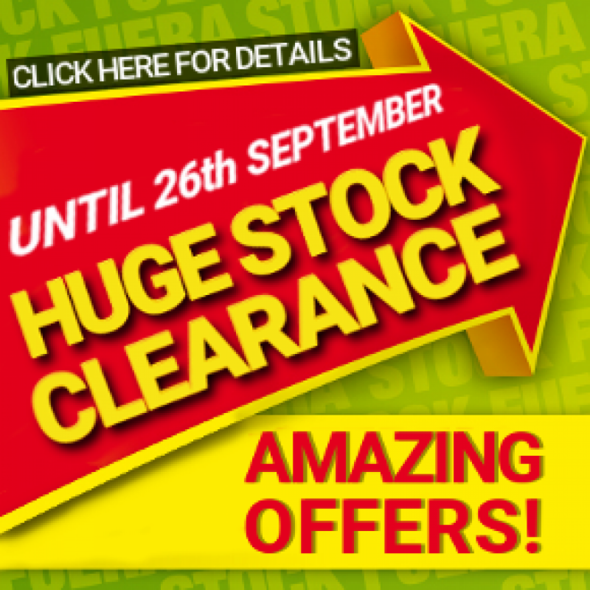 Huge stock clearance until 26th September at Leroy Merlin Cartagena