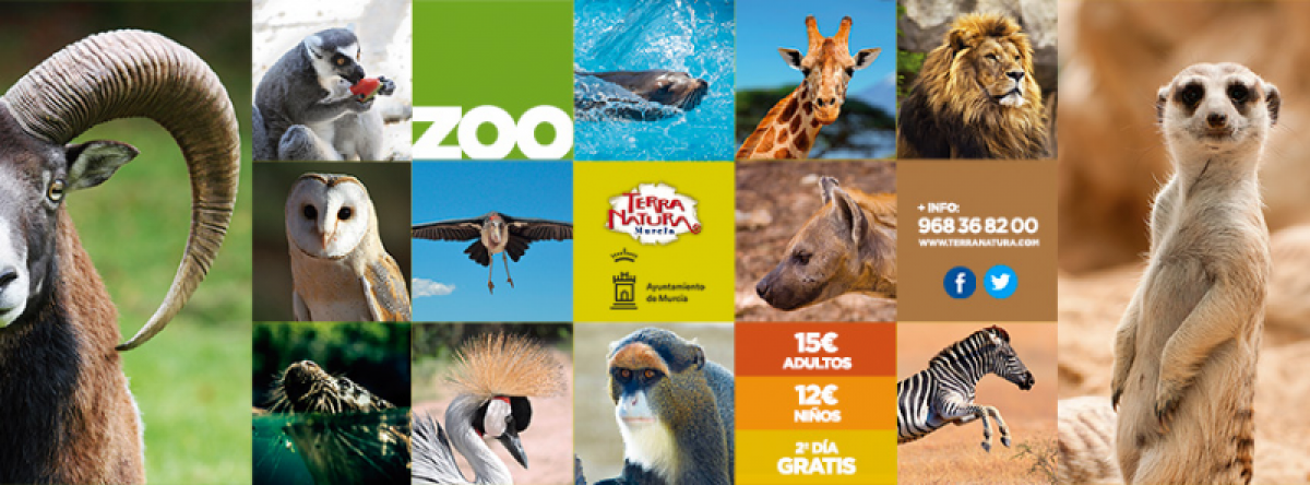 Visit twice for the price of one ticket at Terra Natura Wildlife Park in Murcia