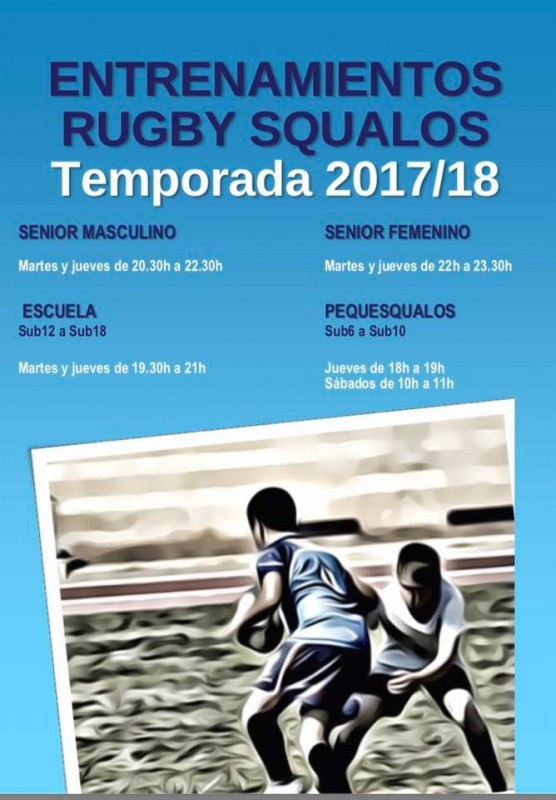 Training starts with the San Javier Squalos rugby teams