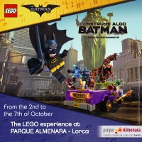 2nd to 7th October: Lego Batman activities and exhibition at the Parque Almenara