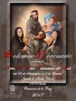 26th September to 4th October Novenario in honour of Saint Francis of Assisi