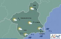 Possibility of coastal showers in the Costa Cálida on Tuesday