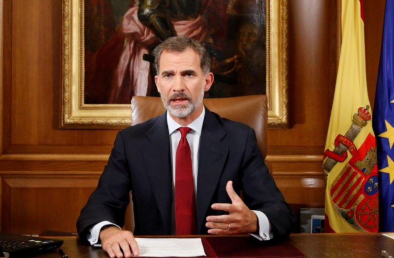 The King of Spain calls for order in Catalunya