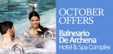 Fantastic October offers at the Balneario de Archena thermal spa baths and hotel complex