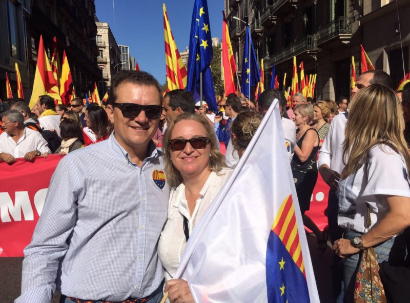 Murcia represented at the anti-Catalan independence rally in Barcelona