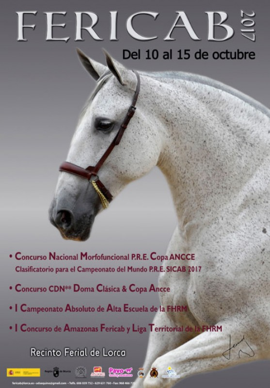10th to 15th October Fericab horse show Lorca