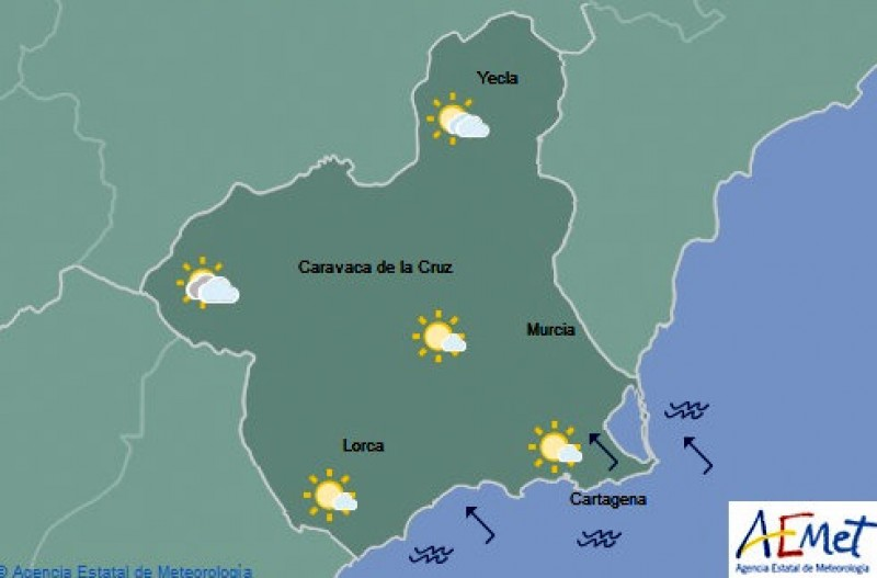 Superb holiday weekend weather for the Costa Cálida