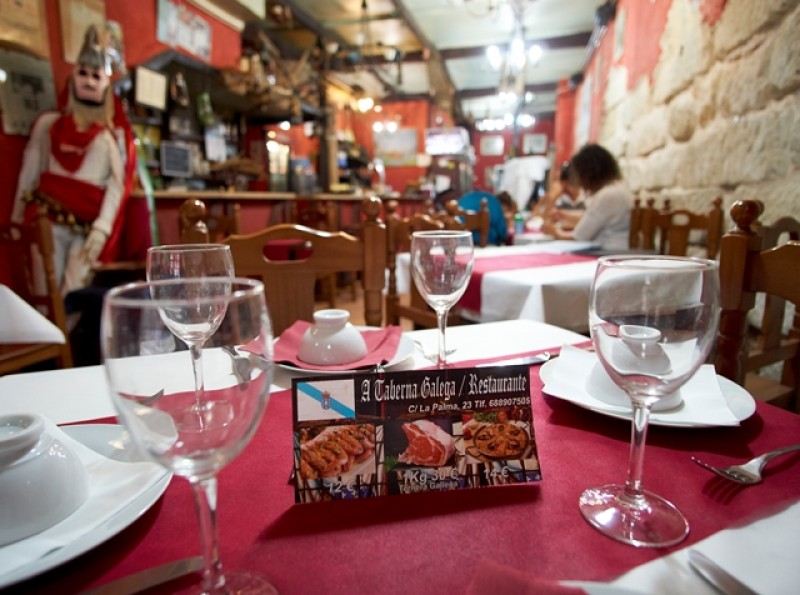 A Taberna Galega offers authentic Galician dishes in the heart of Cartagena