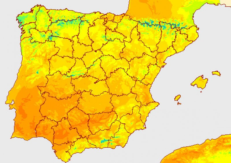 <span style='color:#780948'>ARCHIVED</span> - Temperatures in Spain up to 11 degrees higher than the average for late October