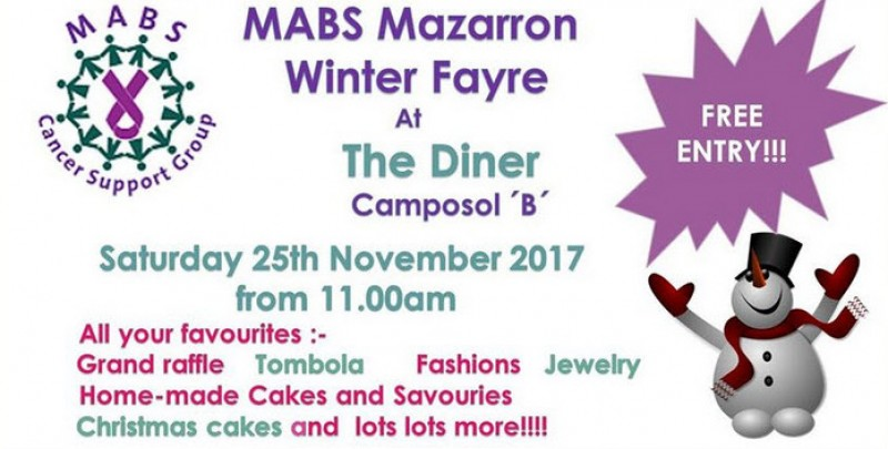 25th November MABS Winter Fayre on Camposol