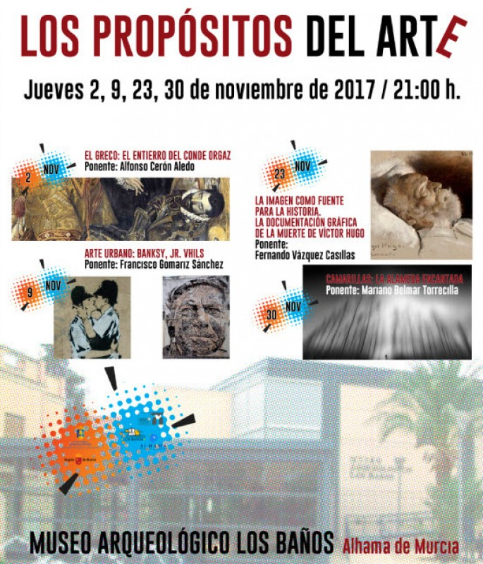 2nd, 9th, 23rd and 30th November Propósitos del Arte in Alhama de Murcia