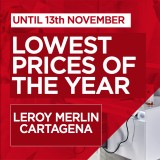 Great savings on home, garden and DIY products at Leroy Merlin Cartagena until 13th November