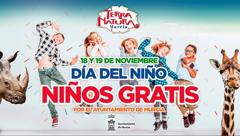 18th and 19th November: Free entry for children at Terra Natura Wildlife Park in Murcia