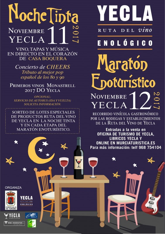 12th November Yecla offers guided tour to taste the first wines of the Yecla 2017 D.O