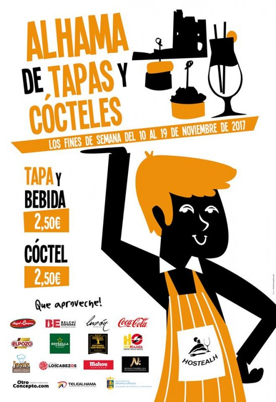 10th to 19th November Alhama de Murcia Tapas Route