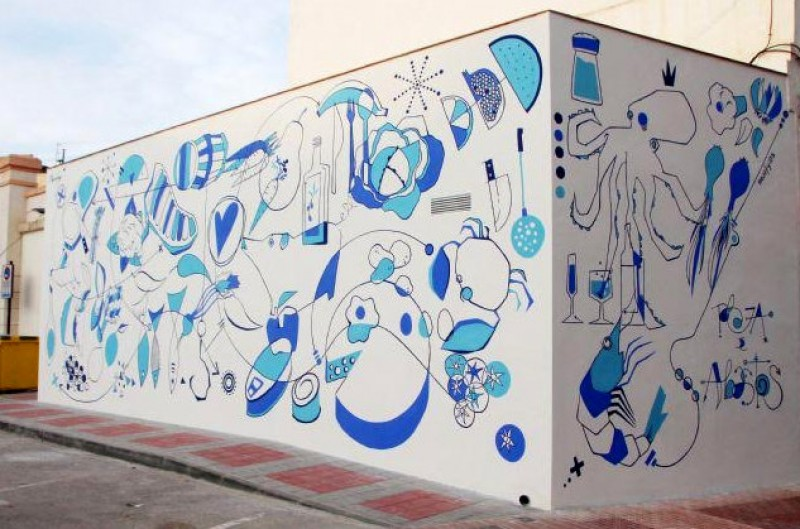 Street mural unveiled at Alhama de Murcia food market