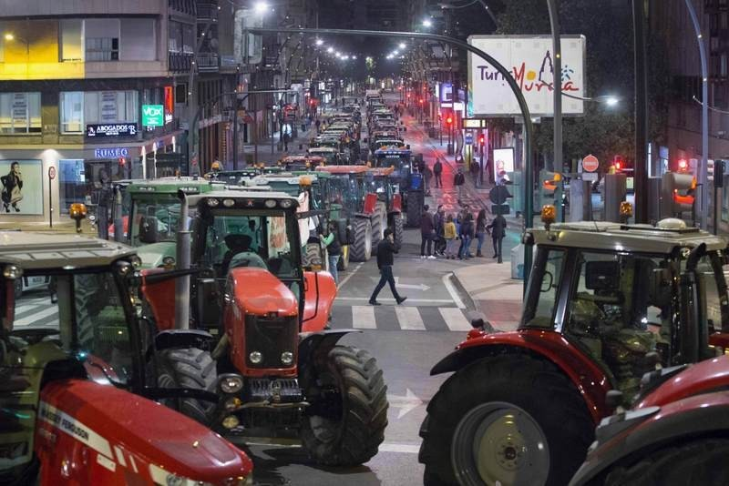 3,000-euro fines for organizers of tractor protest in Murcia this April