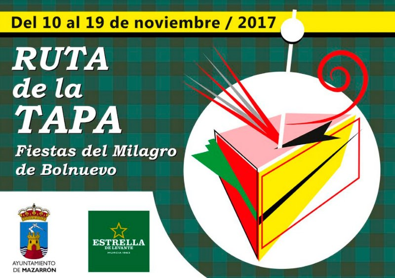 10th to 19th November, tapas route in Bolnuevo