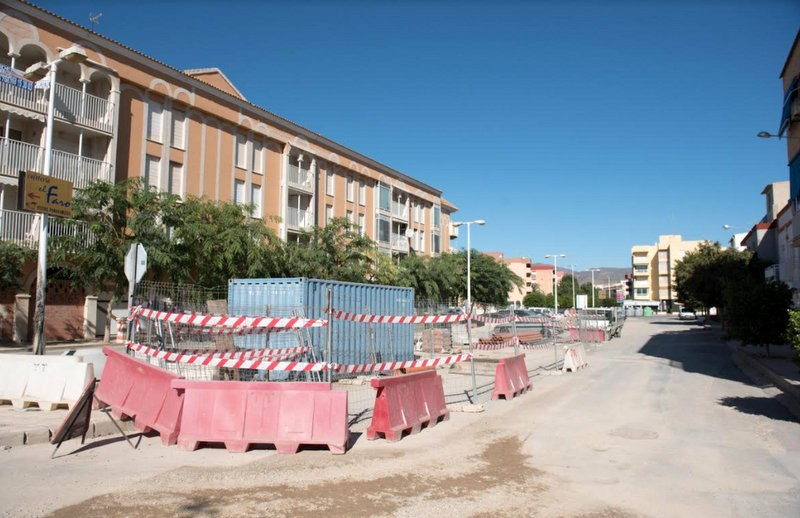 Street improvements in Puerto de Mazarrón during tourism off season
