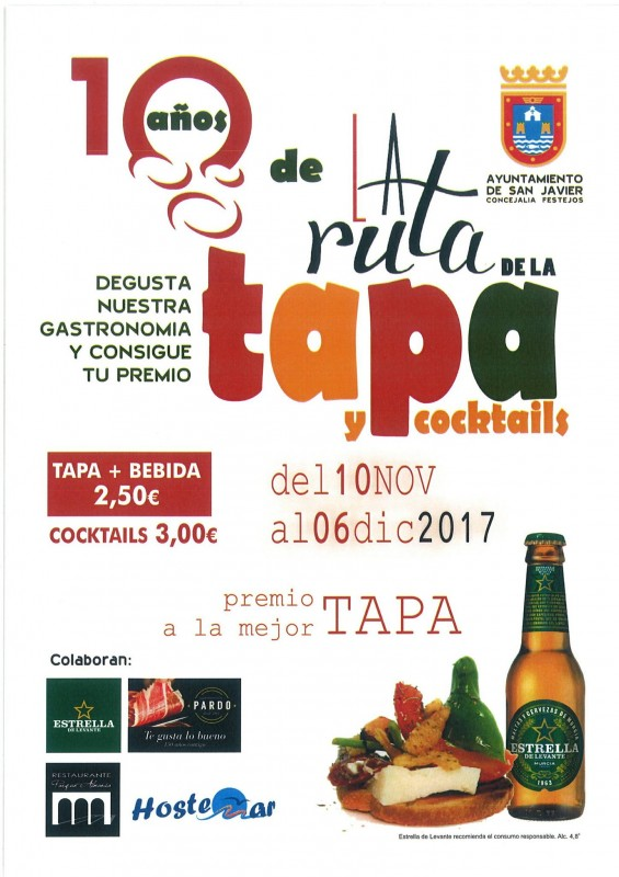 10th November to 6th December: San Javier Tapas Route