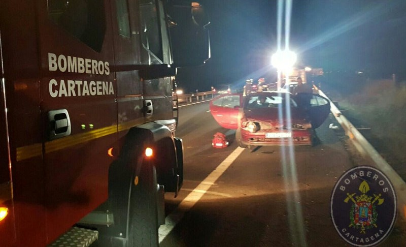 Nasty accident on the A-30 motorway in Cartagena