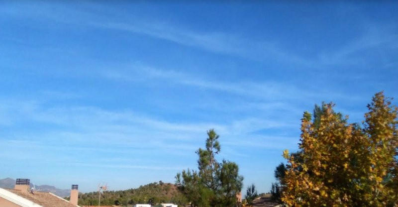 Still barely a cloud in the Murcia sky as the second half of November begins
