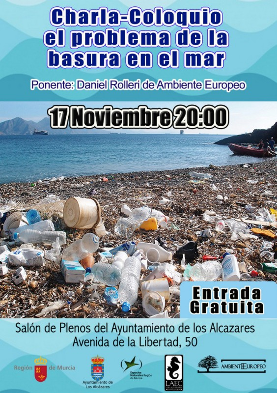 17th November Talk about the problem of rubbish in the oceans: Los Alcázares