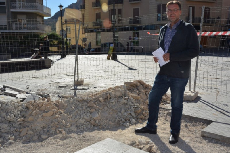 Rainbow pavement in Cieza to show support for LGTBi community