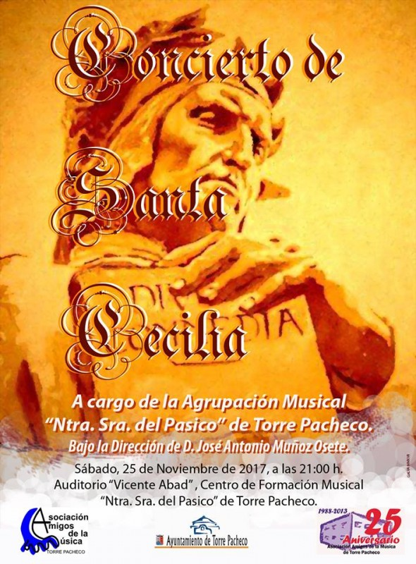 25th November free concert for Saint Cecilia in Torre Pacheco