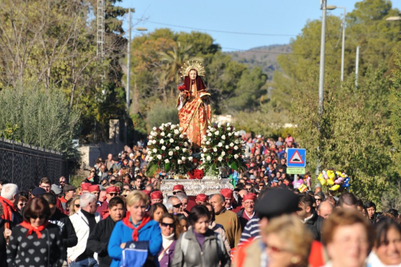 8th December the bajada of Santa Eulalia in Totana