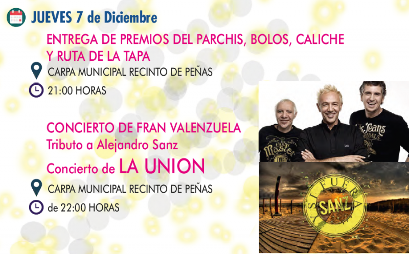 7th December: Free double concert at San Javier Fiestas
