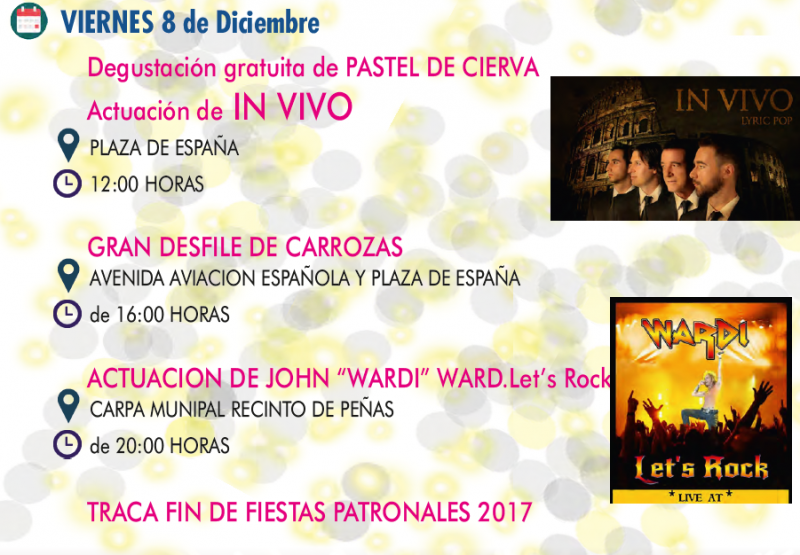 8th December: Two concerts and a float parade at San Javier Fiestas