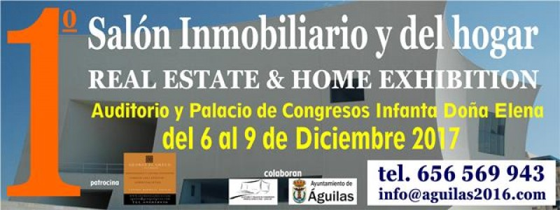 6th to 9th December property and homes exhibition in Águilas