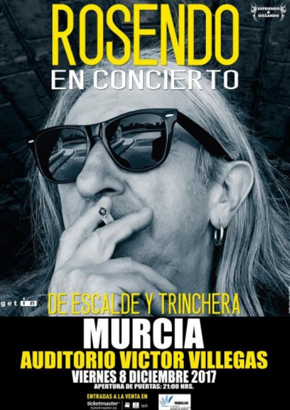 8th December, Rosendo live in concert at the Auditorio Víctor Villegas in Murcia