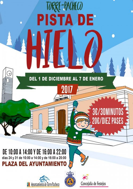 Ice skating in Torre Pacheco from 1st December to 7th January