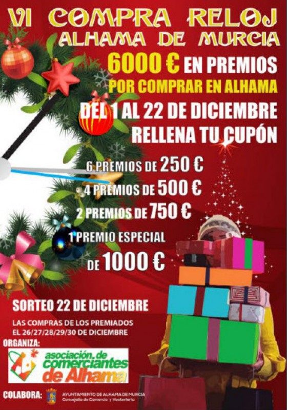 1st to 22nd December Alhama de Murcia shop against the clock promotion