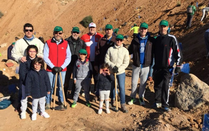 Reforestation initiative on the Cerro de los Moros in Cartagena