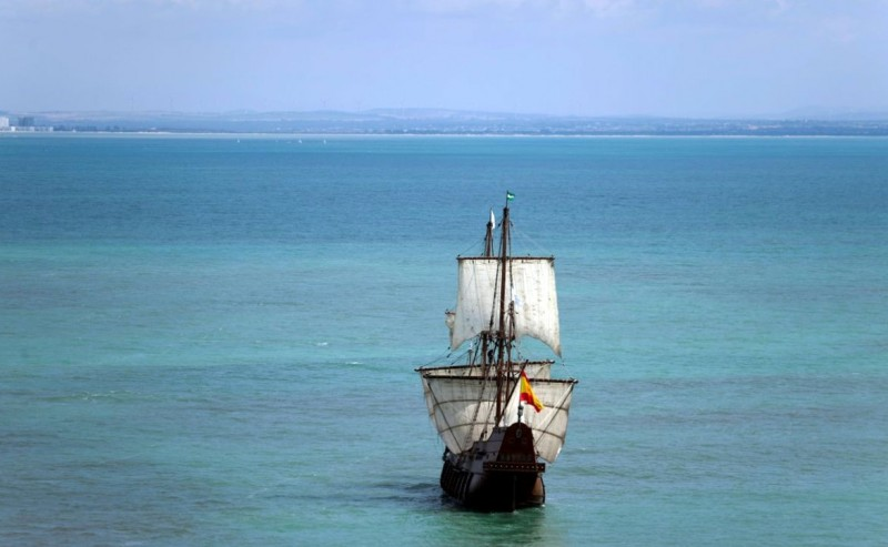 Replica Spanish galleon visits Cartagena