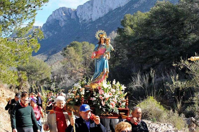 <span style='color:#780948'>ARCHIVED</span> - Sunday 7th January Romería of the Virgen de la Luz in El Cañar, Tallante Cartagena