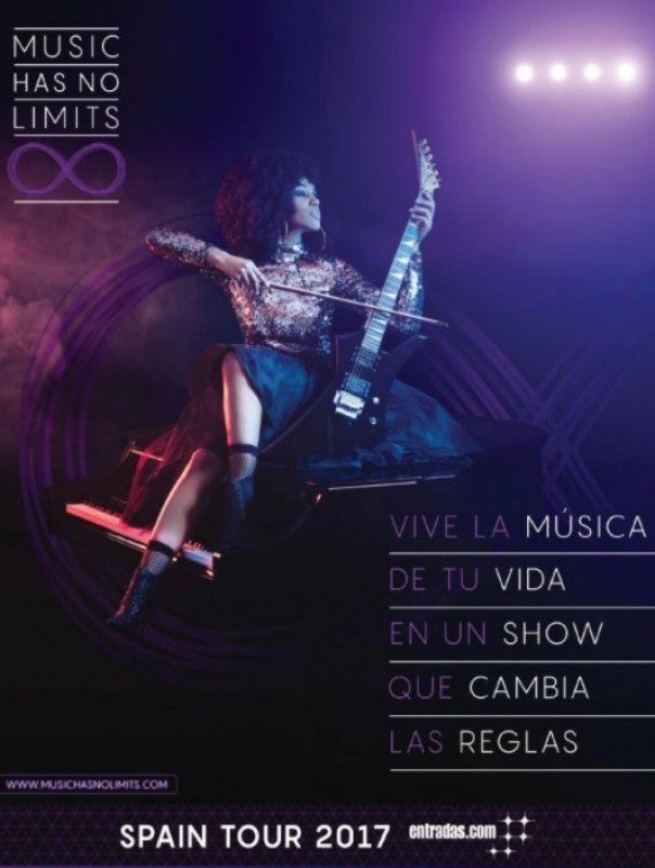 10th February, Music Has No Limits, a unique musical spectacular at the Auditorio Víctor Villegas in Murcia