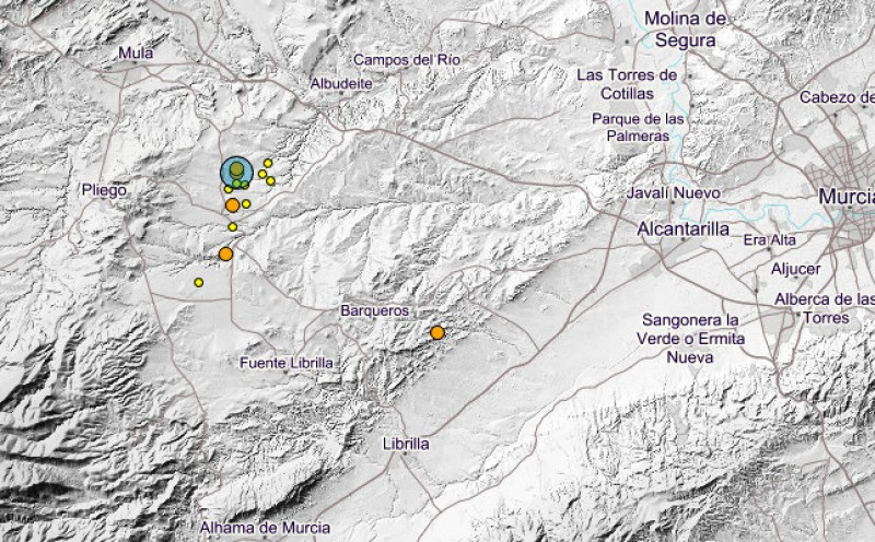 17 minor earthquakes in Murcia in the last 4 days!