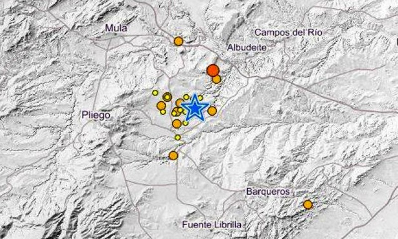 <span style='color:#780948'>ARCHIVED</span> - A dozen more earthquakes near Mula in just one day!