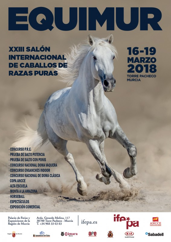 16th to 19th March: Equimur horse show at IFEPA, Torre Pacheco