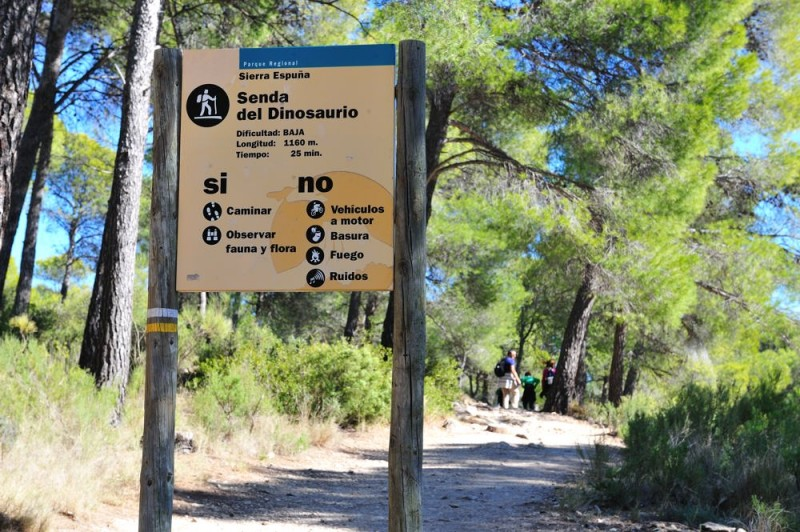 11th March Alhama de Murcia: Free family dinosaur walk in the Regional Park of Sierra Espuña