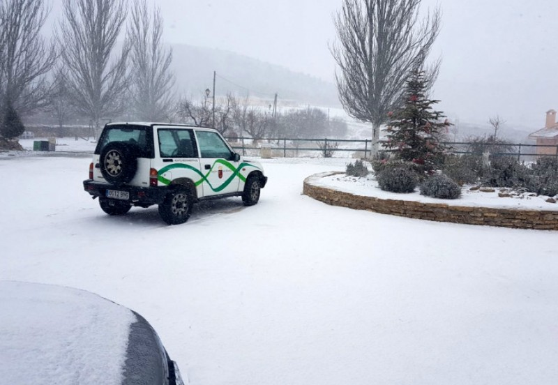 Snow on the higher ground in the north-west of Murcia
