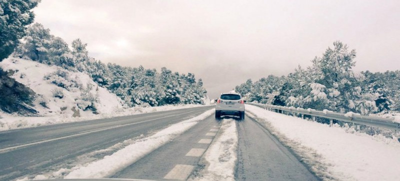 Snow returns to the north-west of Murcia