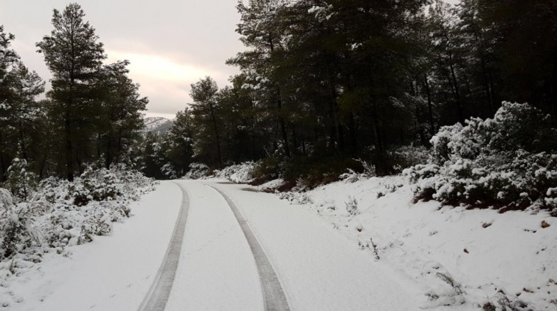 Snow chains in use on Monday in the north-west of Murcia!