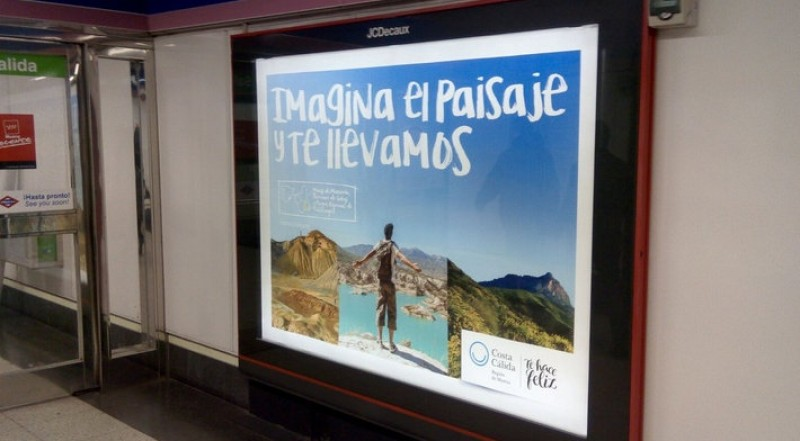 Costa Cálida publicity campaign on the Madrid metro to coincide with Fitur fair