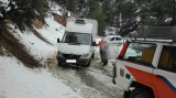 Van rescued from the snow on the road between Bullas and Lorca