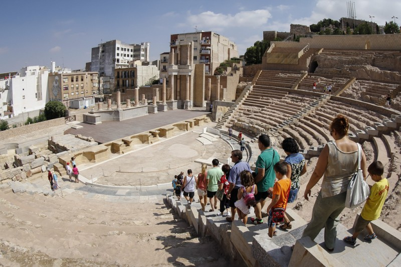 Every Saturday and Sunday English and Spanish tours of Roman Cartagena and Roman Theatre Museum